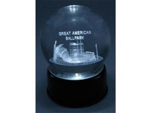 "Paragon Innovations Co GreatAmericanLES Great American Ballpark Etched  In Crystal Ball  Base Musical & Lit. Plays ""Take Me Out to the Ballgame"""
