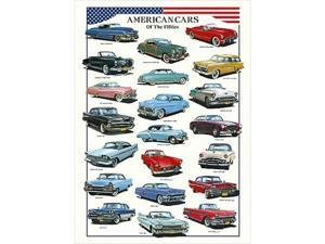 EuroGraphics 2450-3870 American Cars Poster