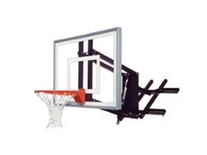 First Team RoofMaster II Steel-Acrylic Roof Mounted Adjustable Basketball System, Forest Green