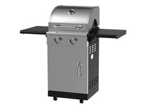Chant Kitchen Equipment BG1762B 2 Burner Stainless Steel Pedestal Gas Grill