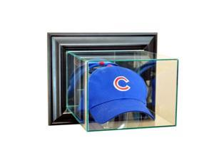 Perfect Cases WMCAP-B Wall Mounted Cap & Hat Display Case, Black