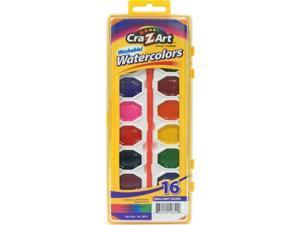 Cra-z-art Corporation 10652 16 Count Assorted Washable Watercolors With Brush