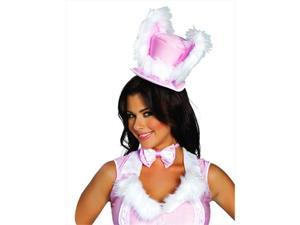 Roma Costume 14-4463-AS-O-S White Rabbit Hat, One Size