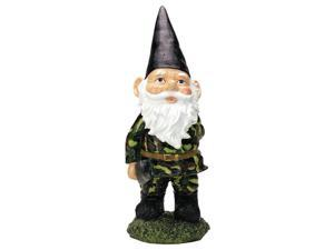 Exhart 30053 13 in. Camouflage Gnome Statue