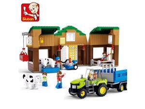 Sluban M38-B0561 Cow Farm Building Blocks Construction Set with 513 Bricks