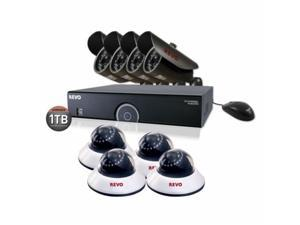 Revo America R165B4ED4E-1T 16-Channel 1TB 960H DVR Surveillance System With 8 650TVL 80 ft. Night Vision Cameras