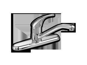 Kitchen Faucet, 1 Lever, 2.2 GPM, Chrome