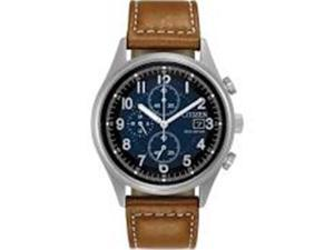 Citizen CA0621-05L Eco-Drive Chandler Leather Chronograph Mens Watch