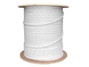 Cable Wholesale RG59 Siamese Solid Coaxial Cable + 18/2 (18AWG 2C) Power White - 1000 ft Spool