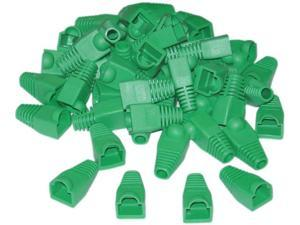 Cable Wholesale RJ45 Strain Relief Boots - Green (50 Pcs Per Bag)