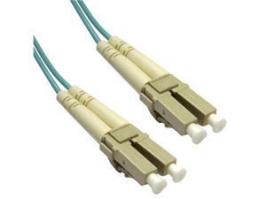 Cable Wholesale LC / LC Multimode Duplex Fiber Optic Cable 10-Gigabit Aqua 50/125 - 1 Meter (3.3ft)