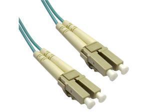 Cable Wholesale LC / LC Multimode Duplex Fiber Optic Cable 10-Gigabit Aqua 50/125 - 2 Meter (6.6ft)