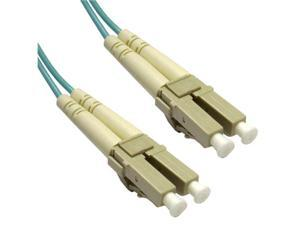 Cable Wholesale LC / LC Multimode Duplex Fiber Optic Cable 10-Gigabit Aqua 50/125 - 5 Meter (16.5ft)