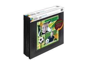 MemoryStor Black Bonded Leather 20-Page Scrapbook Album with Large Display Window (2-Pack)