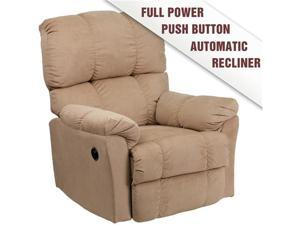 Flash Furniture Contemporary Top Hat Coffee Microfiber Power Recliner Arm chair