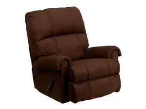 Flash Furniture Contemporary Flatsuede Chocolate Microfiber Rocker Recliner [WM-8700-112-GG]