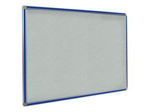 Ghent 4x6 DecoAurora Aluminum Frame Stone Vinyl Tackboard - Royal Blue Trim