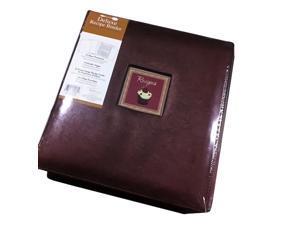 C.R. Gibson Pocket Page Kitchen Recipe Binder Cookbook Scrapbook / Album For Recipe Cards Brown