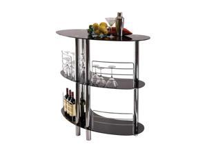 Winsome Martini Entertainment Bar In Black Metal Finish