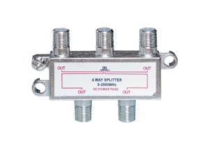 Cable Wholesale F-Pin (Coax) Splitter 4 way 2 GHz 90dB
