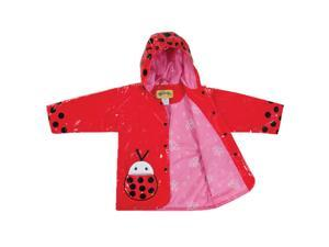 Kidorable Kids Children Outwear Ladybug PU Rain Coats Size 12-18 Months