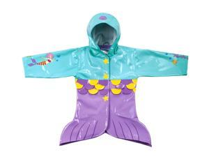 Kidorable Kids Children Outwear Mermaid PU Coats Size 3T