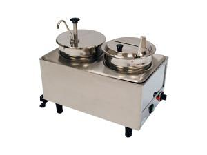 Benchmark USA 51073P Dual Well Warmer 1 Pump, 1 Lid-Ladle - 2 boxes