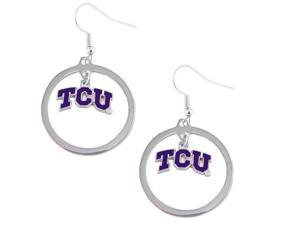 TCU Texas Christian Horned Frogs Hoop Logo Earring Set Ncaa Charm
