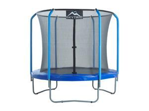 """SKYTRIC"" 8 FT. Trampoline with Top Ring Enclosure System equipped with the "" EASY ASSEMBLE FEATURE"""