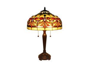 """Amora Lighting AM067TL16 Tiffany Style Floral Table Lamp 24"""""""