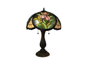 "Amora Lighting AM1113TL16 Tiffany Style Tulips Design 23"" Table Lamp"