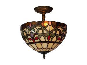 Amora Lighting AM1081HL12 Tiffany Style Ceiling Lamp