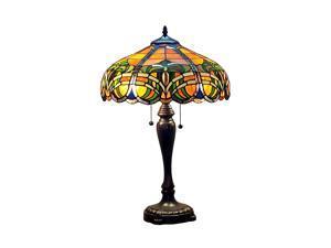 "Amora Lighting AM1071TL16 Tiffany Style 2 - light 25"" Baroque Table Lamp"