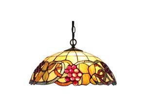Amora Lighting AM1040HL16 Tiffany Style Colorful Hanging Lamp