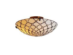 "Amora Lighting AM030CL17 Tiffany Style Ceiling Fixture Lamp 17"" Wide"