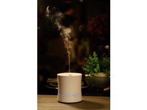 Sunpentown Ultrasonic Aroma Diffuser/Humidifier with Ceramic Housing - White