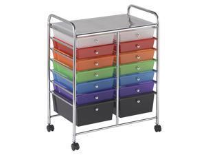 ECR4Kids Home Office Multi Purpose 14 Drawer Mobile Organizer - Assorted