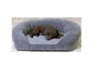 K&H Pet Products Ortho Bolster Sleeper Large Gray Velvet 40""
