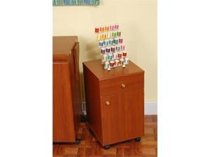 Arrow Sewing Cabinet Suzi Sewing Stuff Storage Cabinet with Four Drawer - Cherry Finish