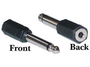Cable Wholesale 1/4 inch Mono Male / 3.5mm Mono Female Headphone Adapter