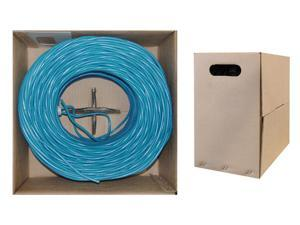 Offex Wholesale CAT5E UTP Bulk Cable Solid 350MHz, 24 AWG, Blue - 1000 ft