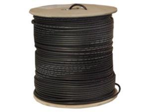 Offex Wholesale RG59 Siamese Coaxial (CCTV) Cable Solid + 18/2 (18AWG 2C) Power Black - 1000 ft Spool