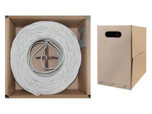 Offex Wholesale CAT5E UTP Bulk Cable Solid 350MHz 24 AWG White - 1000 ft