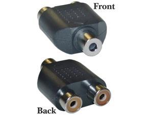 Offex Wholesale RCA to Stereo adapter 2 x RCA Female / 1 x 3.5mm Stereo Female