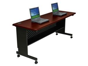 Agility Series Rectangular Table 72w x 24d x 29-1/2h Mahogany/Black