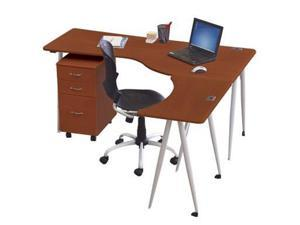 Balt Iflex Full Table Large Desk - Left - Cherry