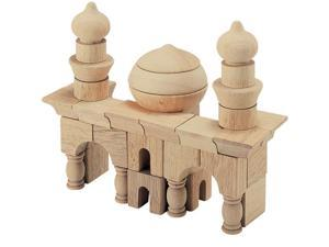 Guidecraft 42 Piece Table Top Building Construction Blocks Arabian Architecture kids Motor Skills Toy Set Wood