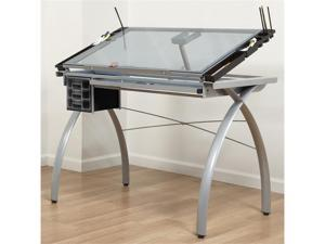 Offex Futura Craft Station (Silver / Blue Glass)