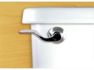 Functional Fine Art Classic Satin Pewter Toilet Flush Handle / Tank Lever-Side Tank Mount