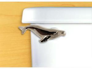 Functional Fine Art Satin Pewter Humpback Whale Toilet Handle-Side Tank Mount